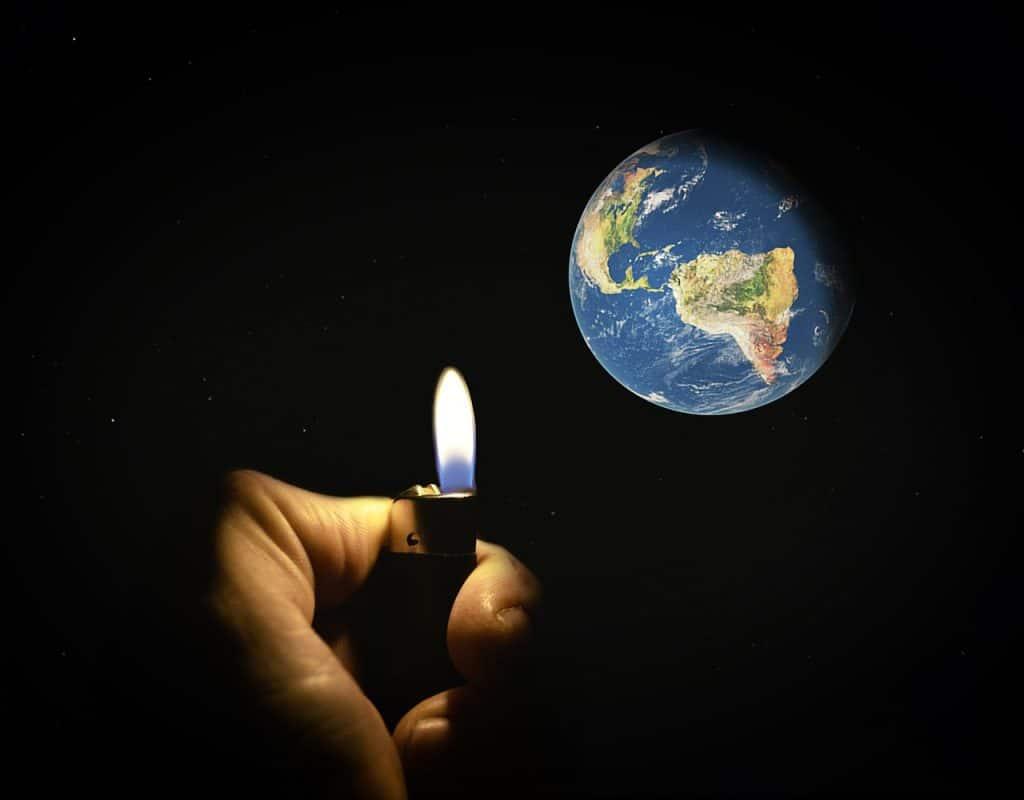 איש מחמם את כדור הארץ